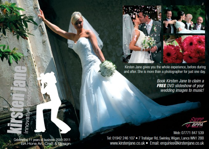 Kirsten Jane Manchester Bride and Groom Magazine Advert
